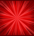 abstract comic bright red background vector image vector image