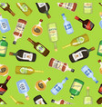 alcohol seamless background with wine and cocktail vector image vector image