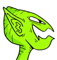 alien mask vector image vector image