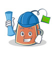 Architect tea bag character cartoon art vector image