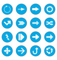 arrow sign black icon blue vector image