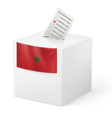 Ballot box with voicing paper Morocco vector image vector image