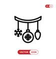 baubles icon vector image