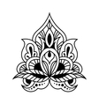 Bold black and white floral persian design vector image vector image