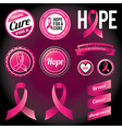 Breast Cancer Awareness Ribbons and Badges vector image vector image
