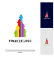 business stats finance logo concept finance logo vector image