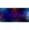 christmas snowflake banner vector image vector image