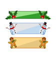 Collection of modern flat origami christmas vector image vector image