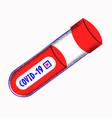 coronavirus blood test pandemic concept test vector image