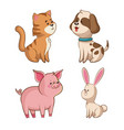 cute collection wildlife image vector image vector image