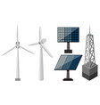 different equipment for making electricity vector image