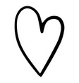 doodle heart hand drawn style for web design vector image vector image