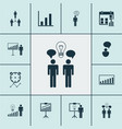 executive icons set collection of decision making vector image vector image