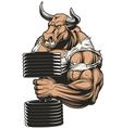 Ferocious strong bull vector image vector image
