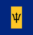 flag of barbados official colors and proportions vector image