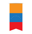 flag of venezuela vector image