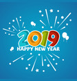 fun new year 2019 vector image vector image