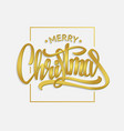golden text merry christmas lettering for vector image vector image