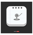 golf design icon gray icon on notepad style vector image