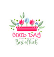 good day best luck logo design element can vector image vector image