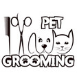 haircut washing and caring for animals silhouette vector image vector image