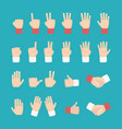 hand expression with various style vector image