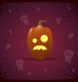 happy halloween banner pumpkin traditional vector image vector image