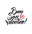 Happy Valentines Day Black and Red Lettering vector image
