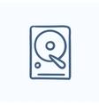 Hard disk sketch icon vector image