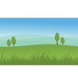 Hill with tree beauty landscape vector image vector image