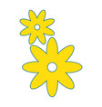 isolated cute flower vector image vector image