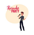 karaoke party contest banner poster postcard vector image