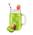 kiwi smoothie cocktail composition vector image