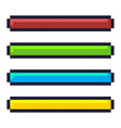 loading progress bar pixel art cartoon retro game vector image