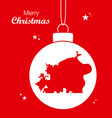 merry christmas theme with map of omaha nebraska vector image
