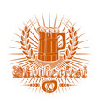 oktoberfest logo design vector image vector image