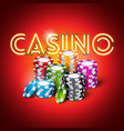 on a casino theme with shiny vector image vector image