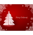 Origami paper Christmas tree vector image