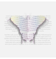 Paper Butterfly of the text Stylish background vector image vector image