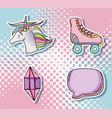 pop art cartoons collection vector image vector image
