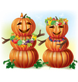 Pumpkin lovers vector image vector image