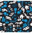 real estate blue white and black pattern eps10 vector image