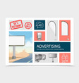 realistic marketing elements composition vector image