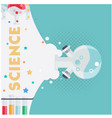 science chemical laboratory test background vector image