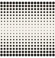 Seamless Black and White Circles Horizontal vector image