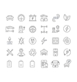 Set Flat Line Icons Electric Cars vector image vector image