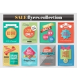 Set of colorful Sale flyers Best creative design vector image vector image