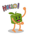 smiling mango fruit cartoon mascot character vector image