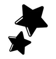 stars icon simple black style vector image