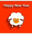 Symbol of 2015 Sheep element for New Years design vector image